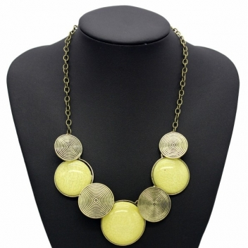 Yellow geometric necklace