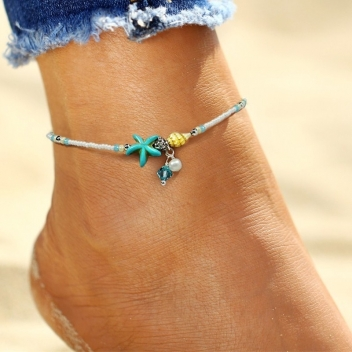 Anklet shells and pearls