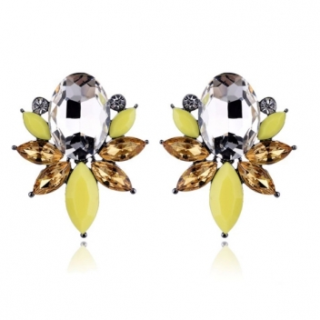 Yellow pearl earrings
